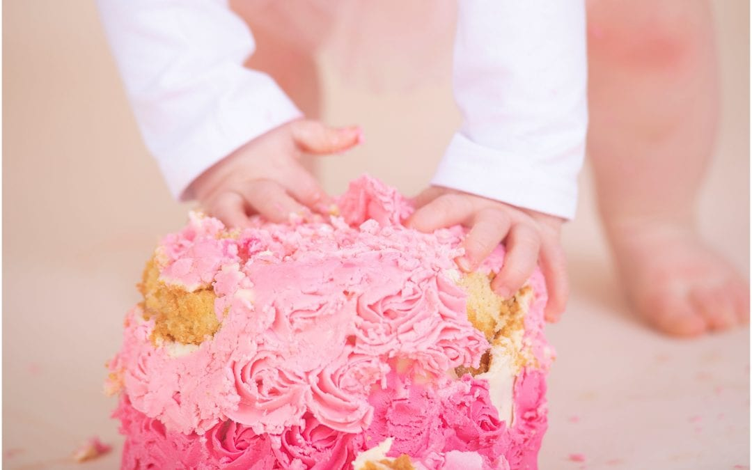 Rose Pink, Gold and Beautiful Flowers Cake Smash Session